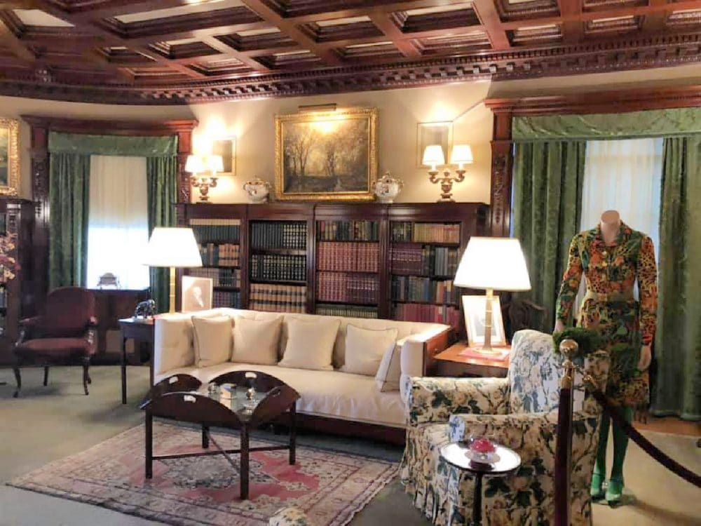 historic mansion tour living room and library