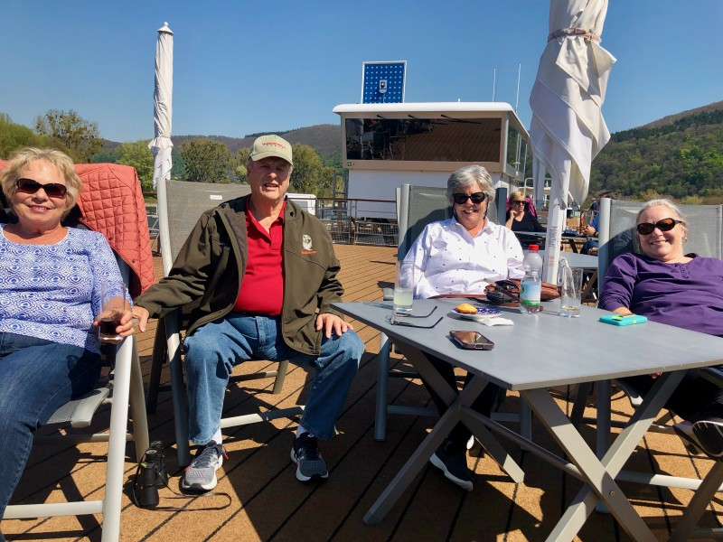 Patrons on the Viking Kvasir enjoying the sun deck.