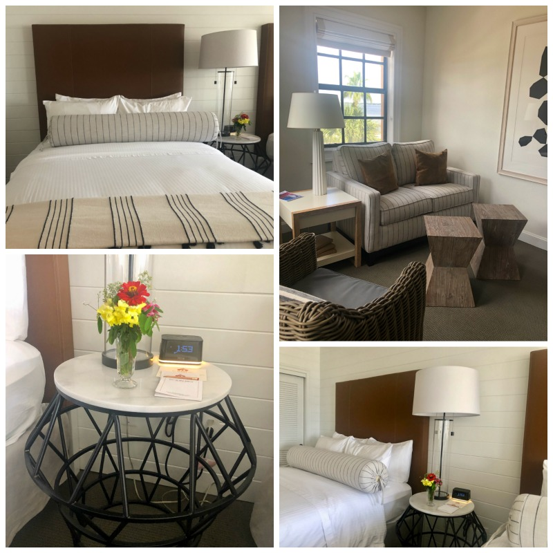 The rooms at Inn on the Lakes in Sebring, Florida are stylish and comfy with plenty of space to roam around.