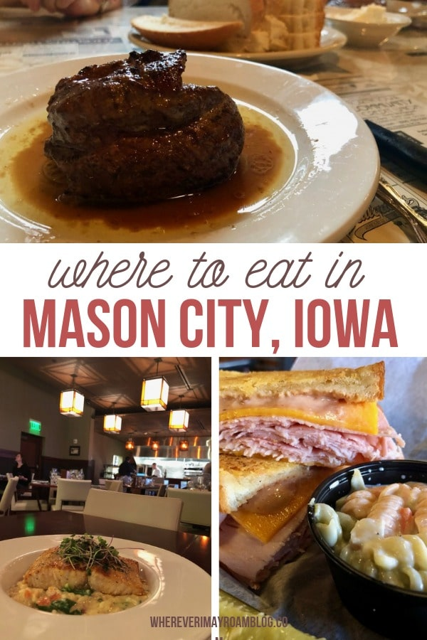 where to eat in mason city Iowa food pin
