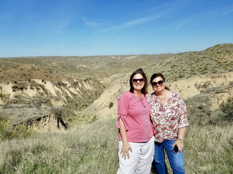 Melody Pittman and Sara Broers helped lead the Big Kansas Road Trip through their social channels.