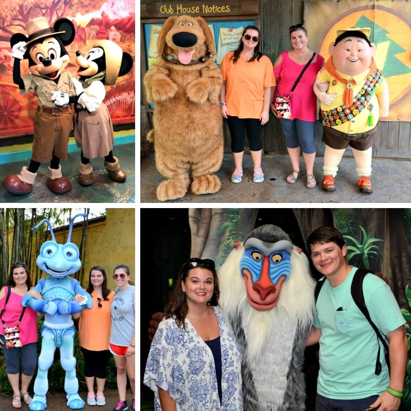 There are several unique character meet and greets at Disney's Animal Kingdom.