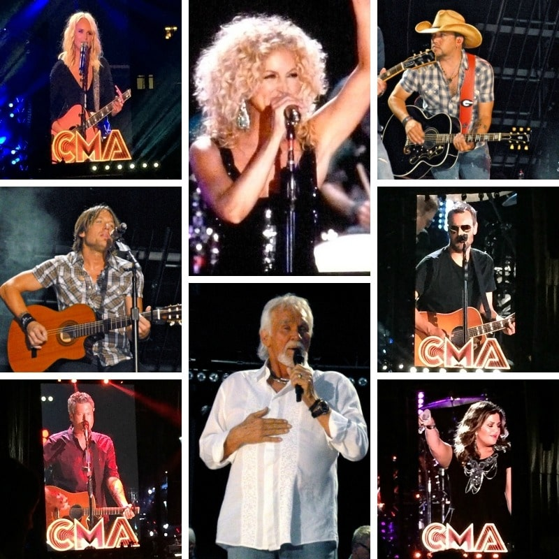 You will see a lot of country music artists at CMA Fest.