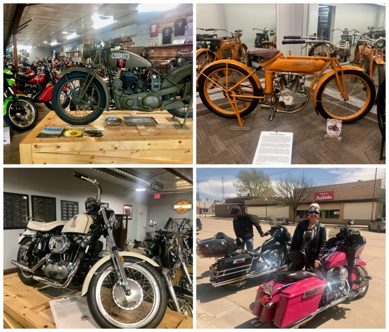 One of the highlights of Cheyenne County, Kansas was the St. Francis Motorcycle Museum collection.