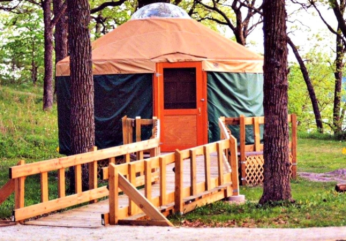 yurt at state park in clear lake