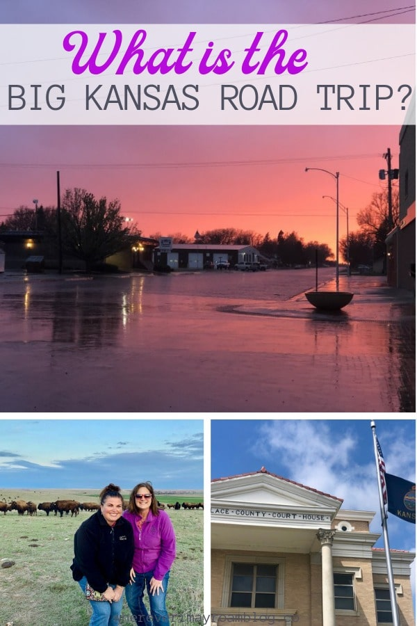 big kansas road trip itinerary pin