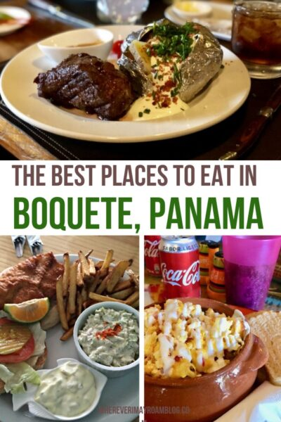 places to eat in Boquete Panama pin