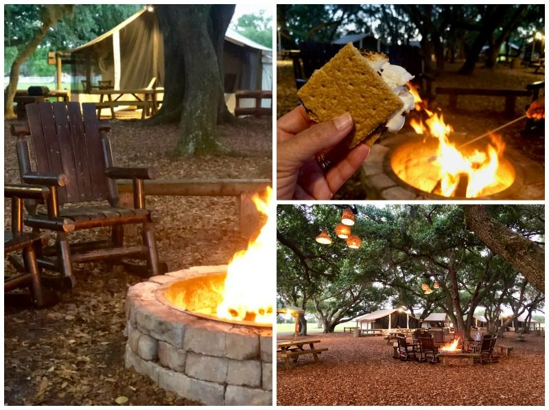 s'mores over campfire