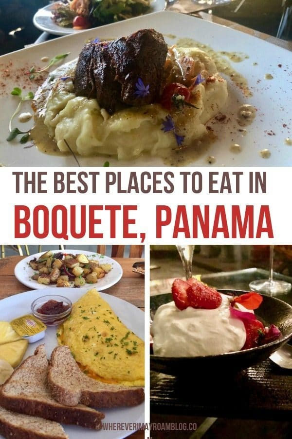 where to eat in Boquete Panama pin