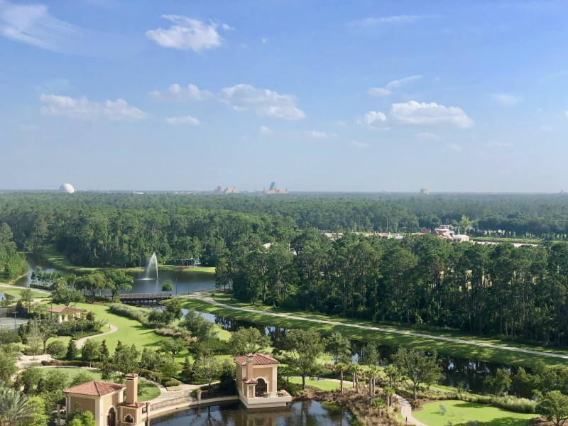 balcony views of Walt Disney World from four seasons balcony
