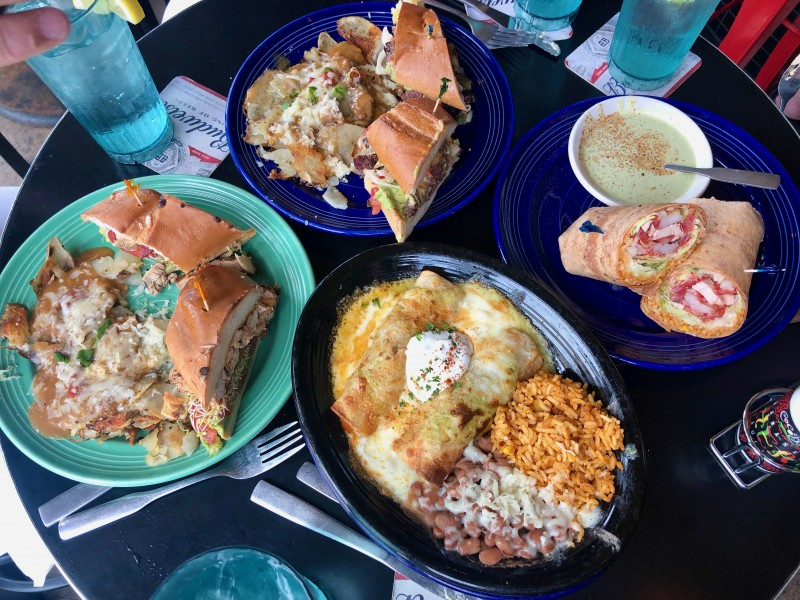 coco bolos Mexican lunch dishes