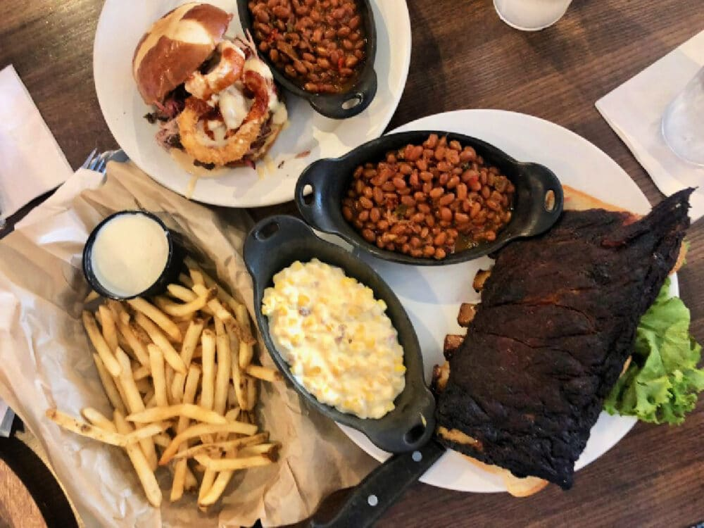 jcs-ribs-baked-beans-corn-dishes