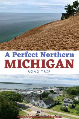 perfect northern Michigan road trip pin