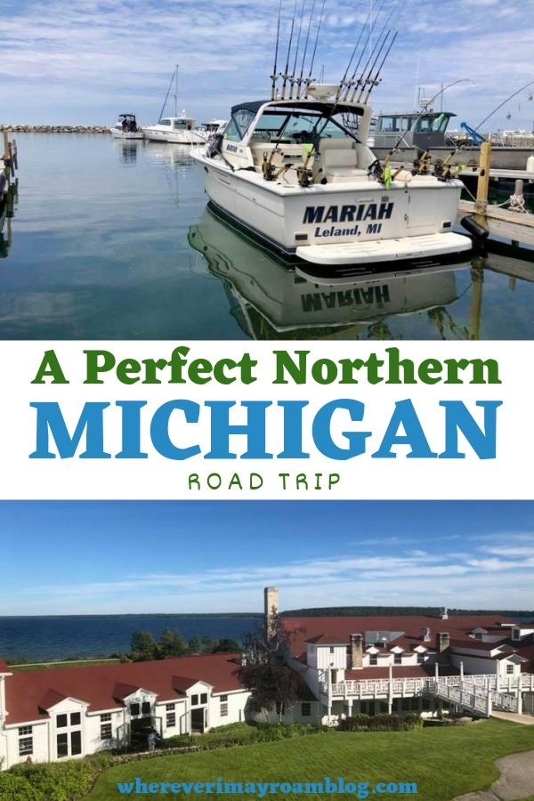 perfect northern Michigan vacation pin