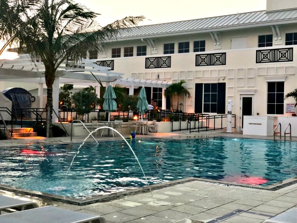 swimming pool at hutchinson shores resort