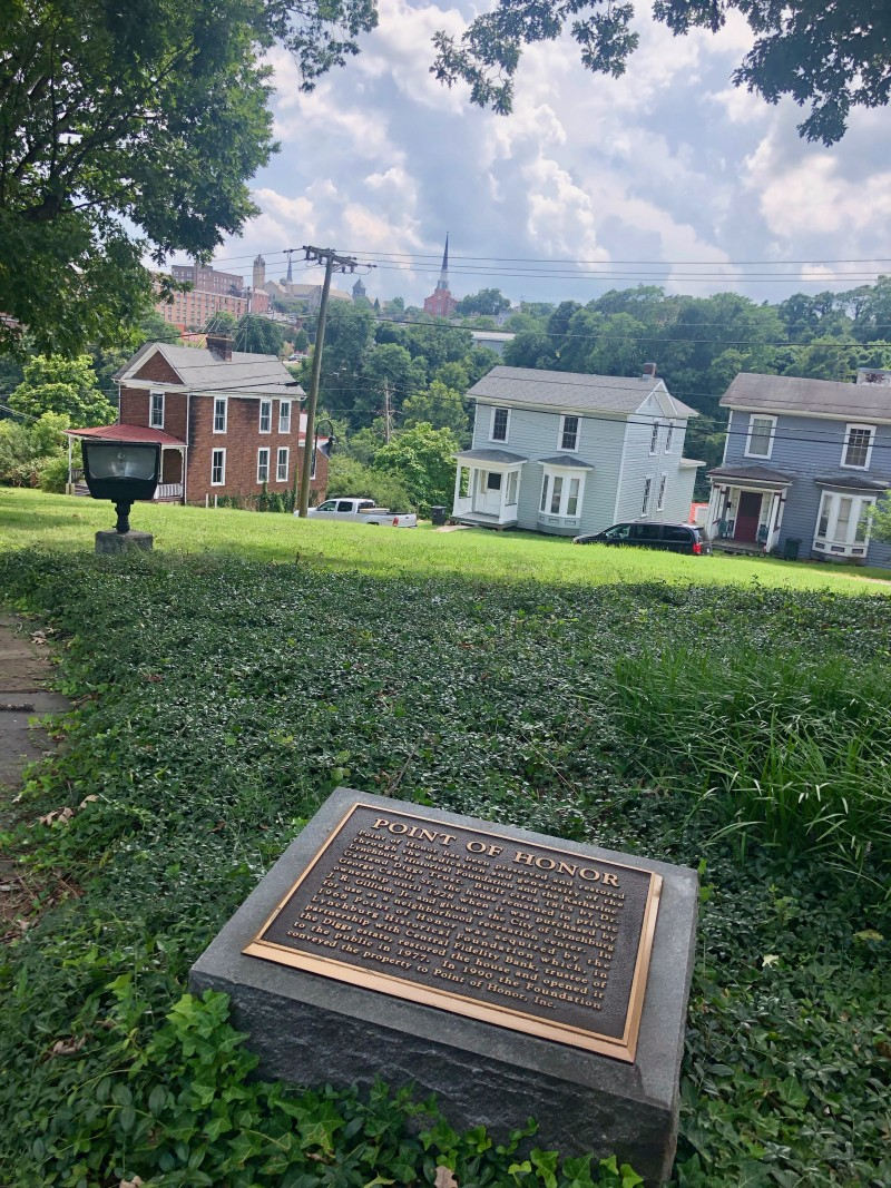 point of honor historical marker lynchburg