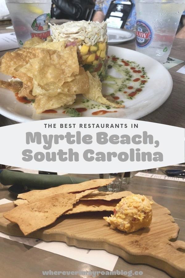 best restaurants in Myrtle Beach pin