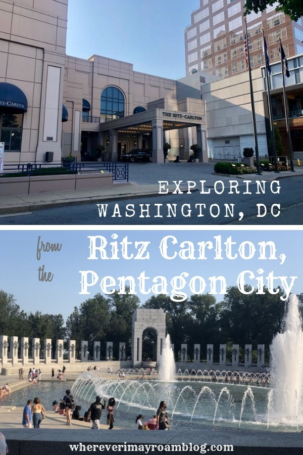 exploring Washington DC Ritz Carlton pentagon city