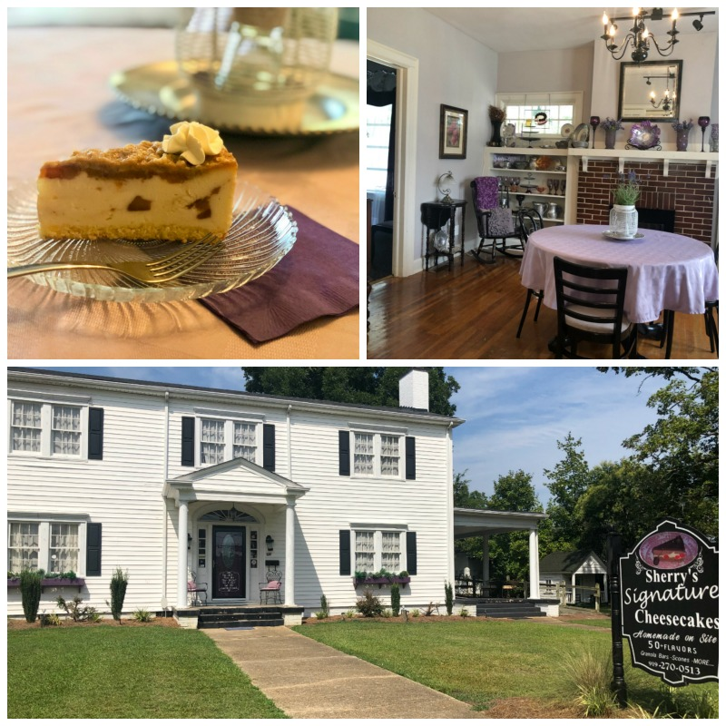 sherry's signature cheesecakes and victorian home
