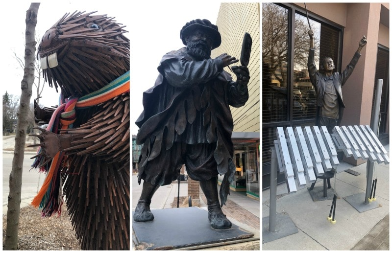 things to do in mason city street art sculptures