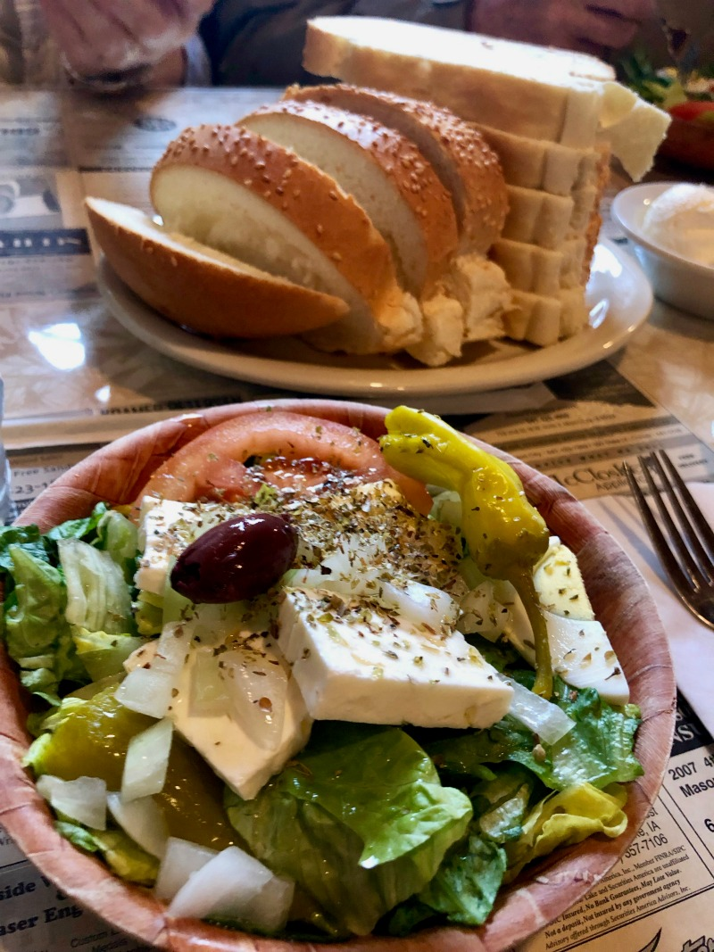northwestern steakhouse bread and salad