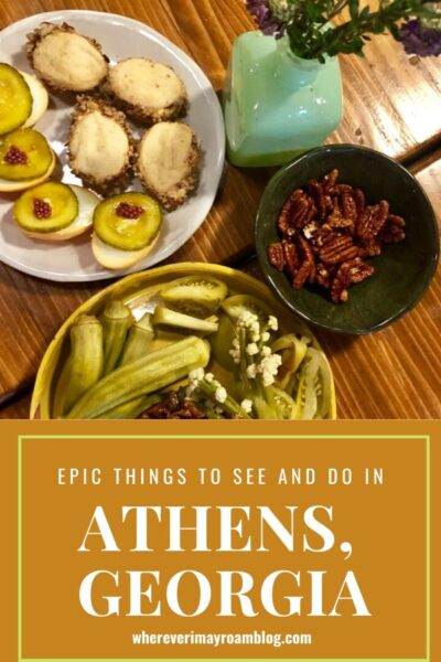 things to see and do in Athens Georgia pin
