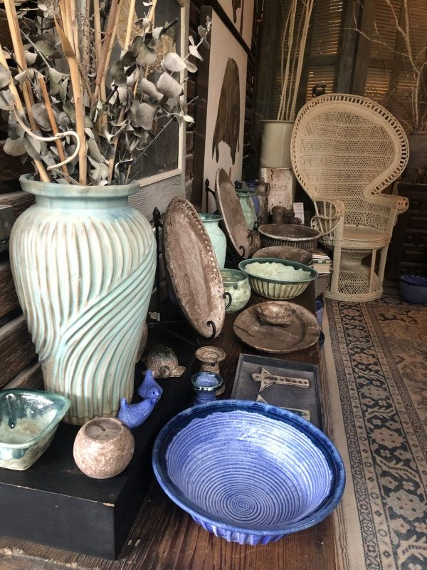 McCarty pottery plates and pieces