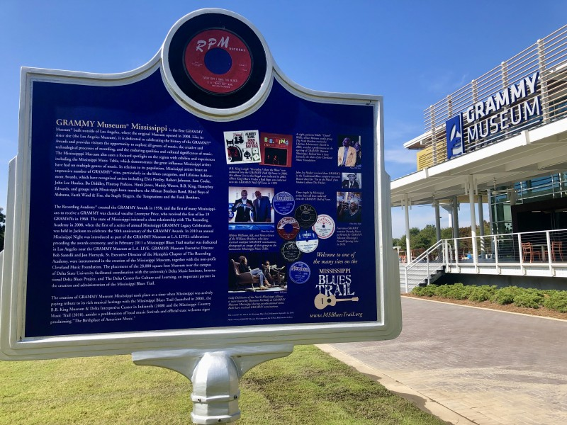 blues trail grammy museum marker