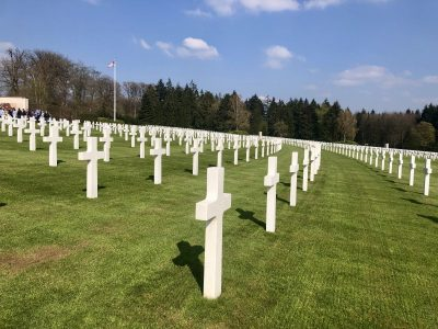 white crosses at luxembourg American cemetery