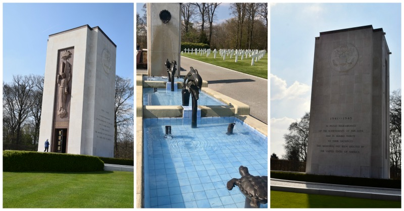 fountain and memorials luxembourg American cemetery