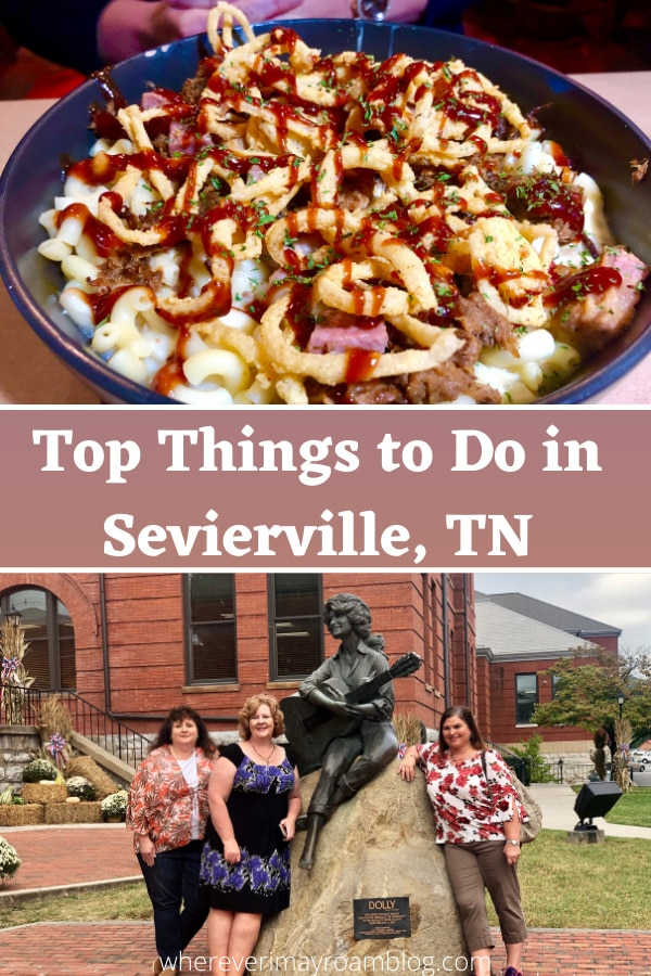 sevierville dolly statue and food