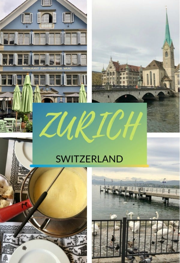 experiencing Zurich Switzerland pin