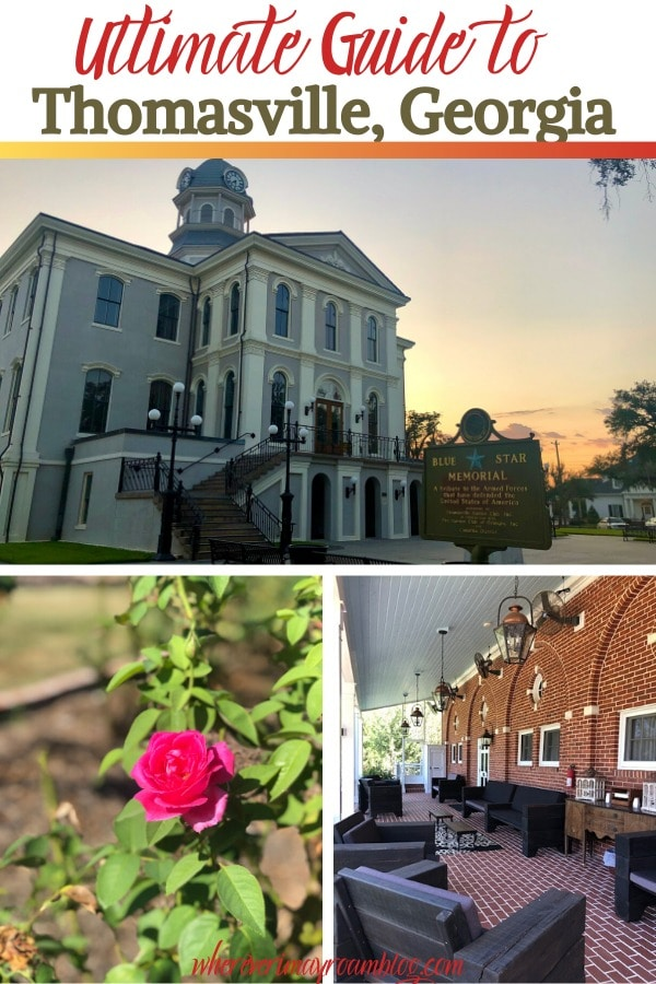 guide to Thomasville Georgia pin