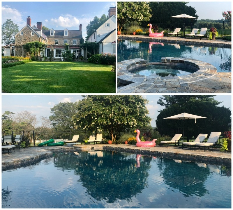 tusculum farm grounds and pool