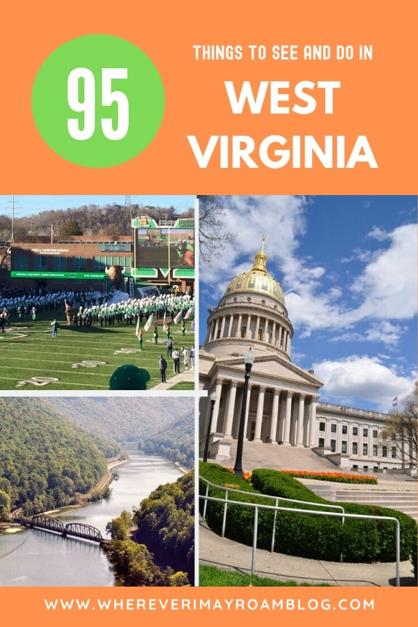 95 things to do in West Virginia pin