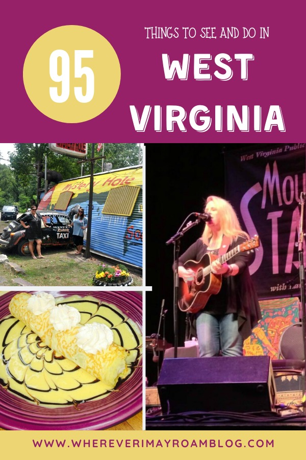 95 things to see and do in WV pin