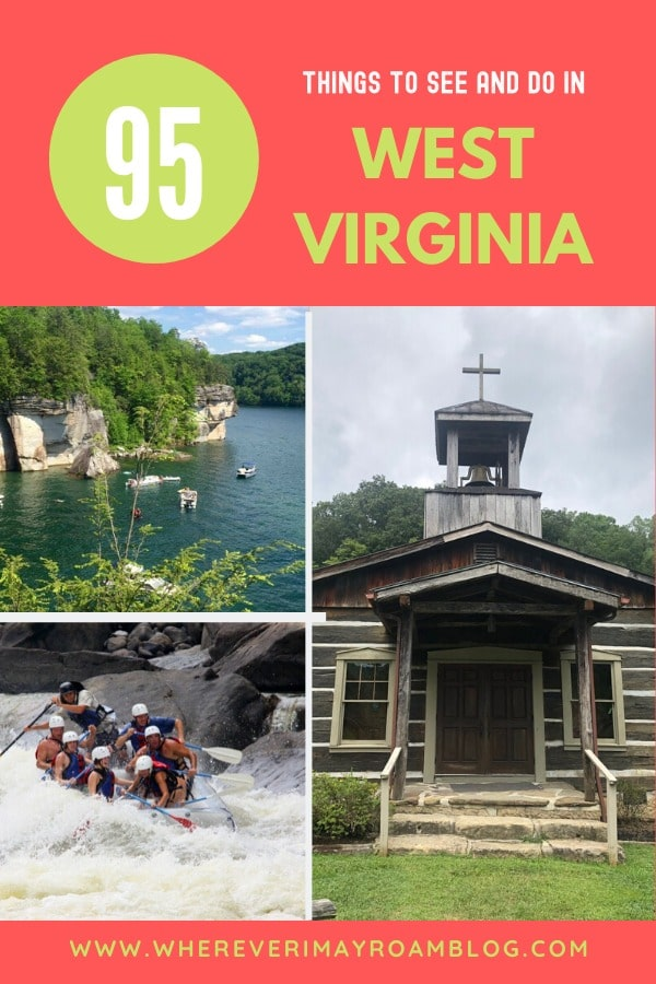 95 things to see in West Virginia pin