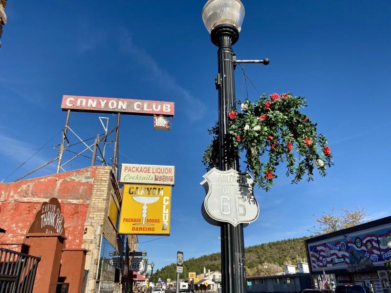 cool downtown Williams arizona Route 66 shot