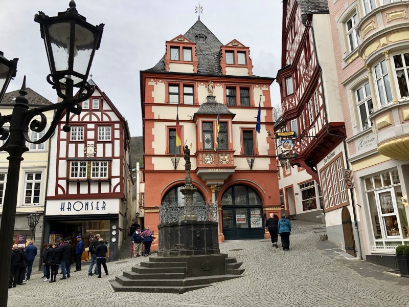 marketplace area of Bernkastel Germany