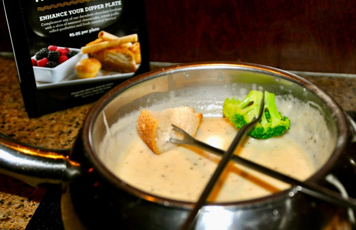 cheese fondue with forks