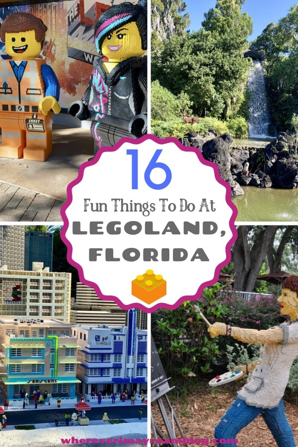 fun things to do at Legoland florida pin