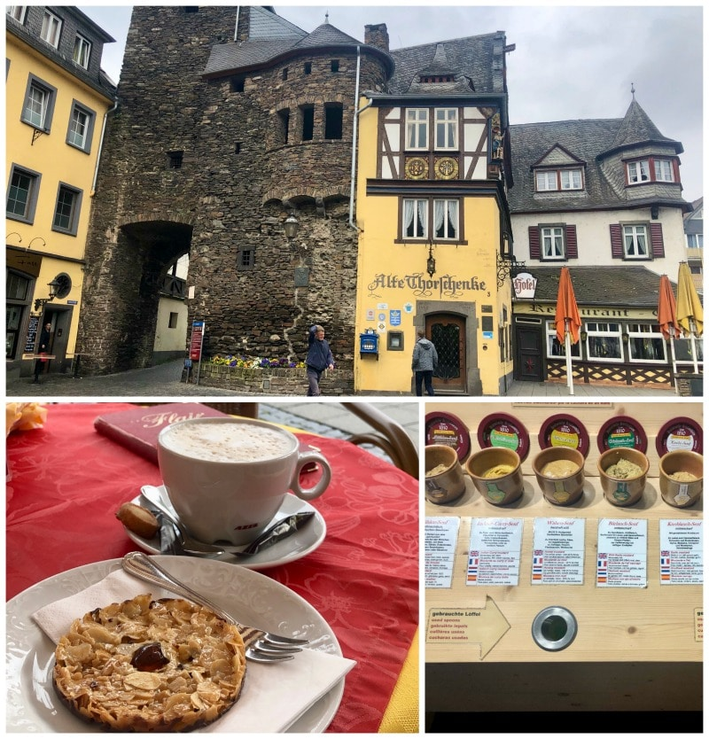pastries and coffee Cochem Germany