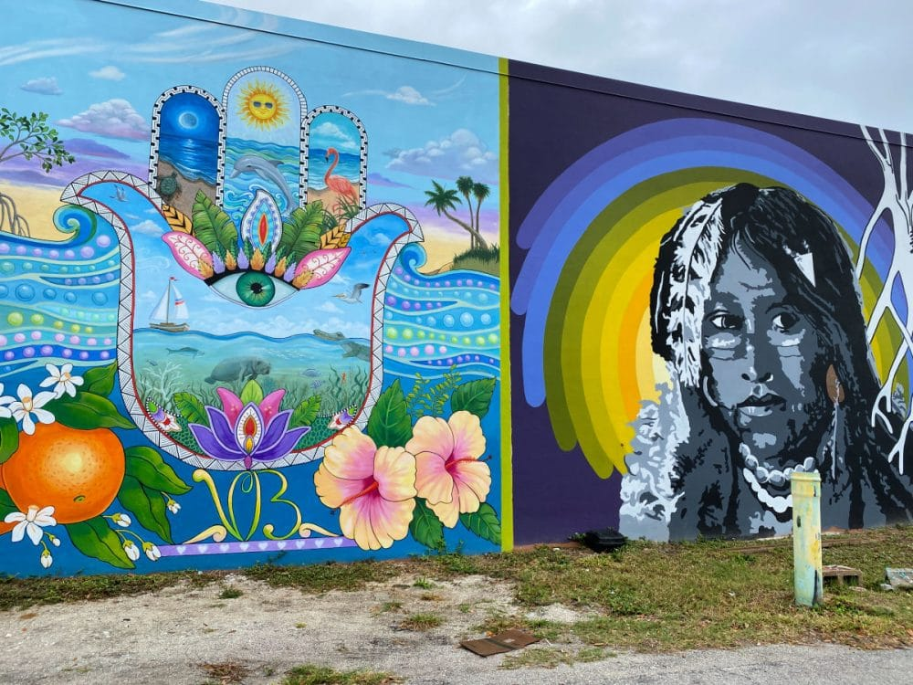 colorful mural in downtown Vero Beach