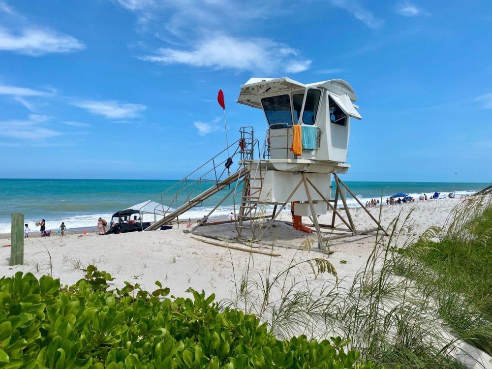lifeguard shack in Vero Beach