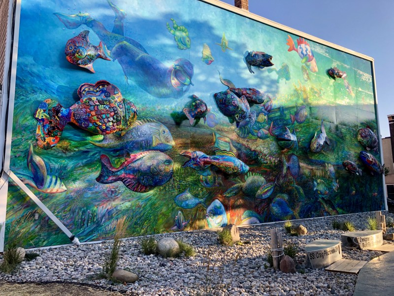 downtown alpena fish mural