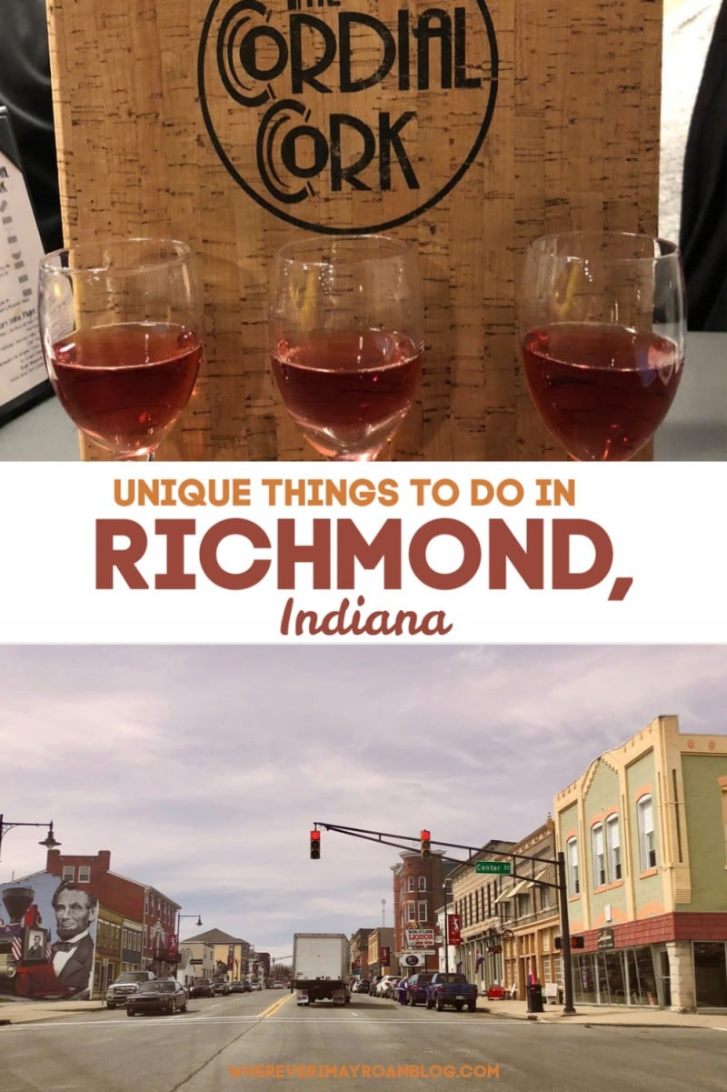 unique things to do in Richmond indiana pin