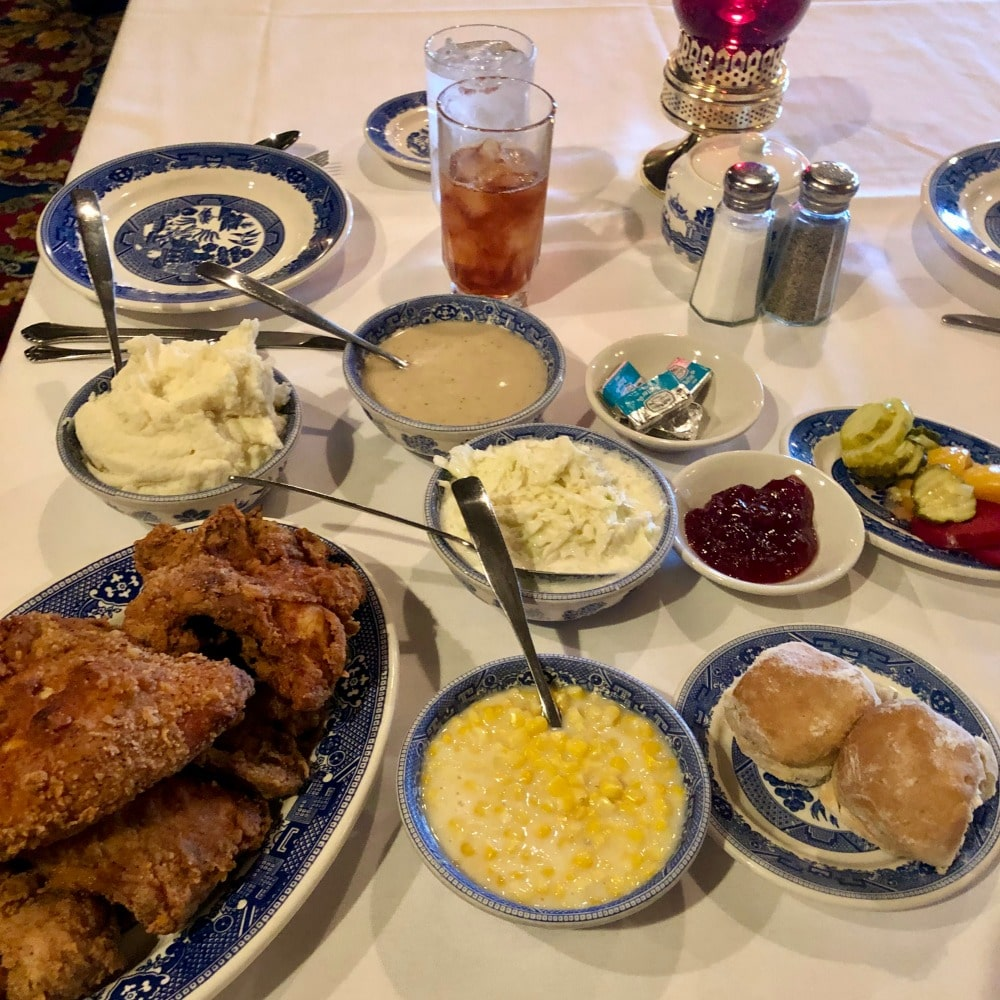 brookville hotel chicken dinner with all the fixings