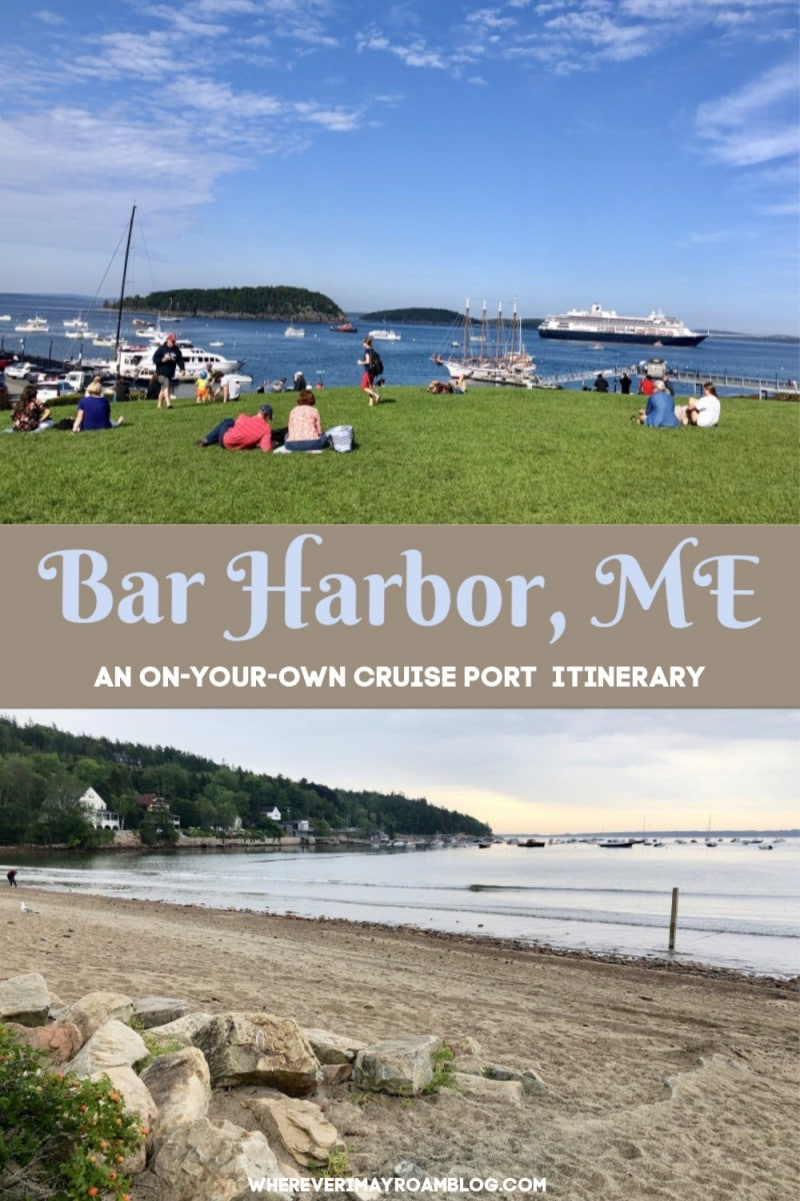 visiting bar harbor, maine on your own pin