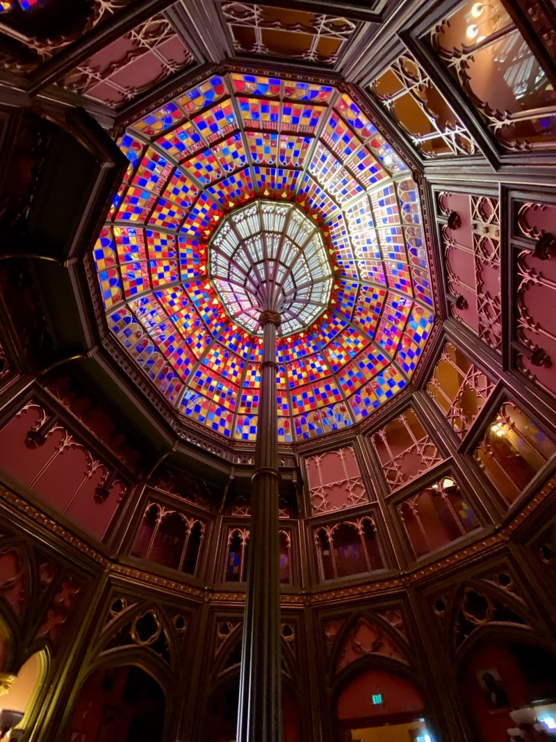 stained glass dome old LA state capitol