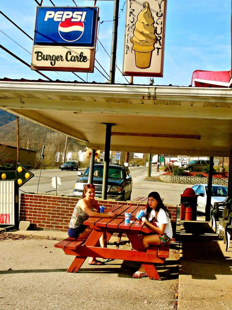 historic Burger Carte in West Virginia